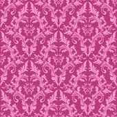 Seamless damask floral Pattern in shades of pink. — Stock Vector