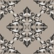 Seamless damask floral Pattern in shades of gray.  — Stock Vector