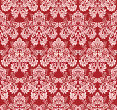 Seamless claret wallpaper with pink roses. — Stok Vektör