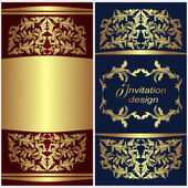 Luxury invitation Card with golden Borders. — Stock Vector