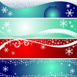 Set of winter seasonal and christmas banners. — Stock Photo