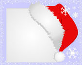 White Frame with Santa's hat, where you can place your information. — Cтоковый вектор