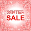 Winter Sale. Frame in red. — Stock Vector #37269493