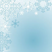 Winter seasonal Background with Snowflakes. — Stock vektor
