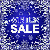 Winter Sale on a blue Background. — 图库矢量图片