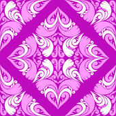 Seamless violet Pattern with pink-white Ornament. — Stock Vector