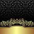 Luxury ornamental Background decorated the Vintage ornament: gold and black. — Stock Vector #40548667