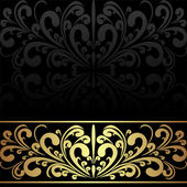 Luxury charcoal Background with golden Border. — Stock Vector