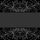 Dark Background with lacy Border. — Stock Vector
