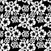 Seamless monochrome flower Pattern. — ストックベクタ