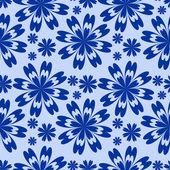 Blue flower seamless Pattern. — Stock Vector