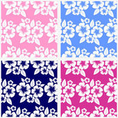 Seamless flower Pattern in blue and pink — Stock Vector