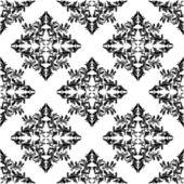 Smidig svart blommönster på vit. — Stockvektor