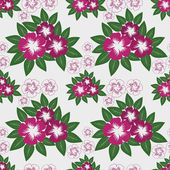 Seamless Pattern with pink Flowers on white. — Vector de stock