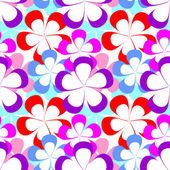 Abstract seamless Pattern with colorful Flowers. — Vector de stock