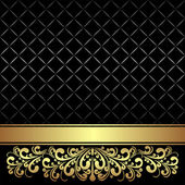 Luxury Background decorated the Vintage ornament and Ribbon. — Vector de stock