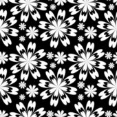Seamless flower Pattern - black and white. — Stock Vector
