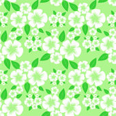 Flower seamless Pattern with white Flowers. — Stockvector