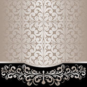 Luxury ornamental Background decorated the silver floral Border. — Stock Vector