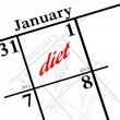 New years resolution - diet! — Stock Photo #16305129