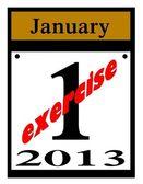 Resolución de año nuevo - ejercicio!!! — Foto de Stock