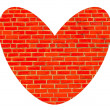 Heart of bricks — Stock Photo