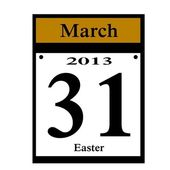 2013 Easter date icon — Stock Photo