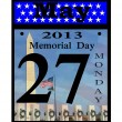 2013 memorial day date icon — Stock Photo