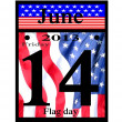 Stock Photo: 2013 june 14th flag day icon