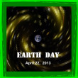 Earth day 2013 calendar date icon — Stock Photo