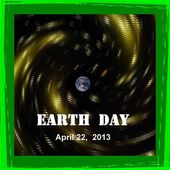 Earth day 2013 calendar date icon — Stock Photo