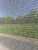 Closeup of vietnam memorial wall — Stock Photo