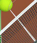 Piłka na tenis net — Zdjęcie stockowe