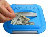Donatie hand — Stockfoto