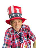Patriotic senior — Stockfoto