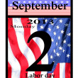 2013 labor day calendar icon — Stock Photo