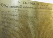The declaration of independence — Stockfoto