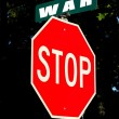 Antiwar sign — Stock Photo