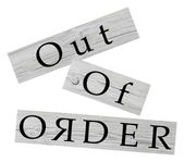 Out of order — Stockfoto