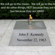JFK quote on going to the moon — Stock Photo