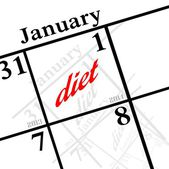 2014 new years resolution to diet — Stock Photo