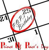 Christmas calendar date — Stock Photo