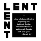 Lent icon — Foto Stock