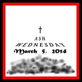 Ash wednesday icon — Stockfoto