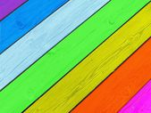 Colorful boardwalk texture — Stock Photo