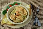 Chicken Pot Pie Dinner — Stock Photo