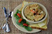 Chicken Pot Pie Dinner — Stock Photo