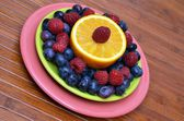 Superfood Antioxidant Fruit Plate — Stock Photo