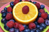 Superfood Antioxidant Fruit Plate — Stock Photo