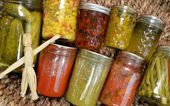 Home Canned Food Variety — Stock Photo